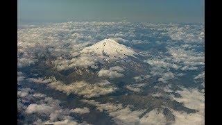 Гора Эльбрус с самолёта