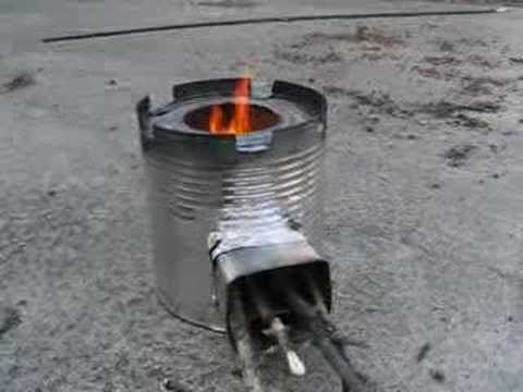 Coffee Can Rocket Stove 2 Youtube