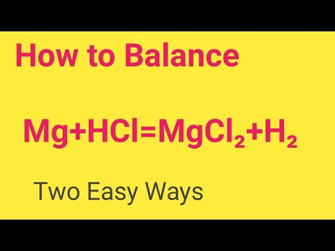 Mg+HCl=MgCl2+H2 Balanced Equation|| Magnesium + Hydrochloric Acid Balanced Equation