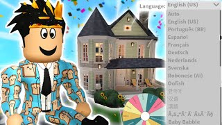 building a bloxburg house but each room is a DIFFERENT LANGUAGE... this was fun