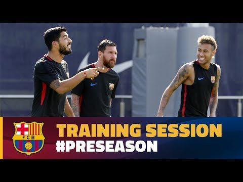 FC Barcelona: first training session of the week