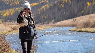 HER FIRST FISH on FLY ROD! - Trout Fishing Colorado Lakes & Streams