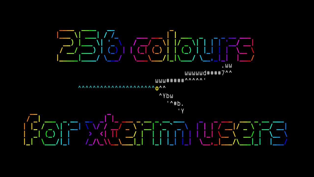 256colour py, analog clock from ASCIImatics samples