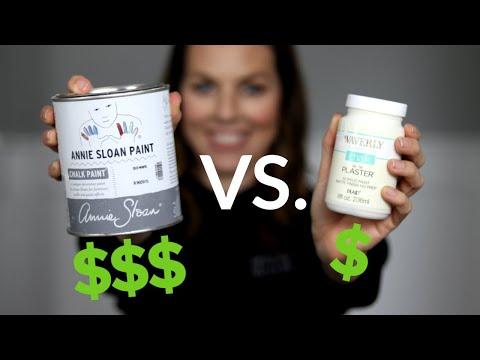 Annie Sloan Chalk Paint Vs. Waverly Chalk | Premium Vs. Walmart Bargain Chalk Paint