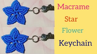 DIY Macrame Flower Star Keychain Tutorial || Full Part