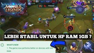 SEKARANG LEBIH ENTENG UNTUK HP RAM PAS PASAN ? - MOBILE LEGEND INDONESIA