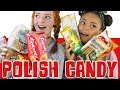 Trying Polish Candy / British YouTubers Tasting Sweets and Snacks from Poland | NiliPOD