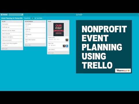 Nonprofit Event Planning Using Trello