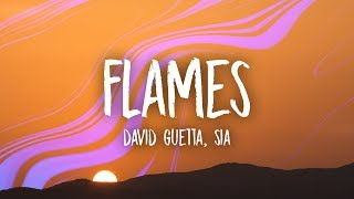 david guetta   sia   flames  lyrics