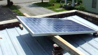 Evergreen 210 watt solar panel with Sun 300 grid tie inverter