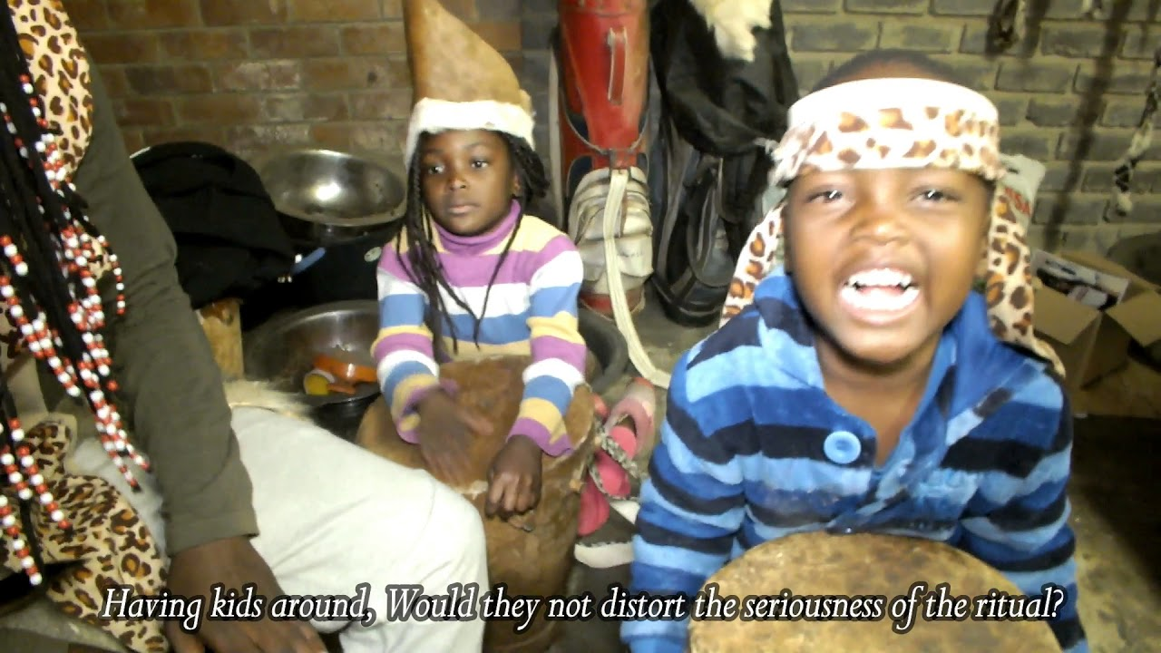 Khokhovula the traditional healer and Children over money ritual