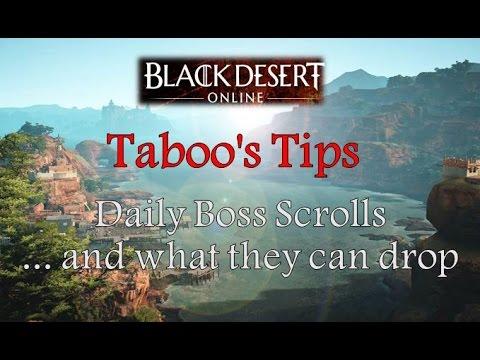 "Black Desert Online: Taboo's Tips – Daily Boss Scrolls & Rewards (Stop  spamming ""r"")"