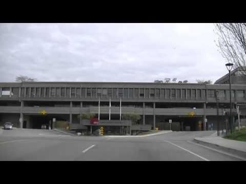 BURNABY BC CANADA - Driving in British Columbia - Visit SFU 大学- Hastings Street - Lougheed Highway