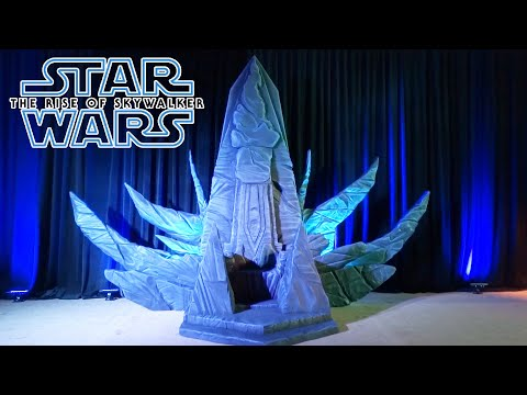 Star Wars The Rise Of Skywalker Costumes And Palpatine S Throne Display At Press Junket Youtube