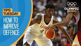 Basketball Defending Tips ft. Teresa Edwards | Olympians' Tips
