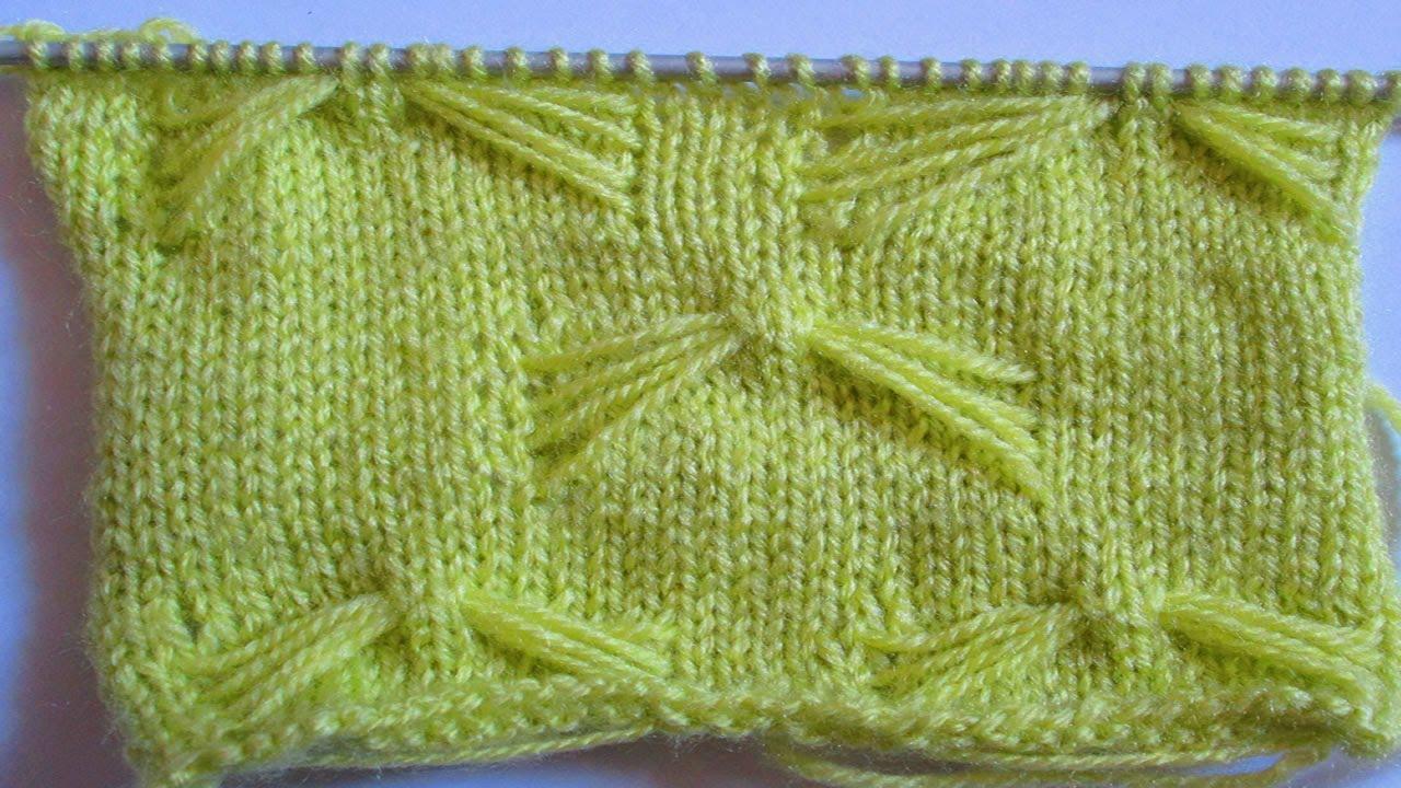Tuto tricot apprendre a tricoter le point papillon point de tricot fantaisie facile - Point tricot facile joli ...