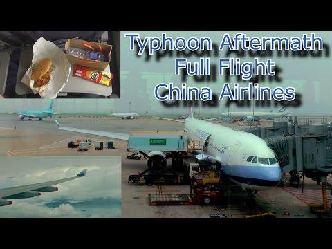 Full Flight after Super Typhoon Nepartak Flight from Hong Kong to Taipei