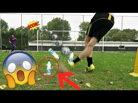 ULTIMATE WATER BOTTLE FLIP FOOTBALL CHALLENGES VS MY BRO!!