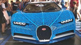 1:1 LEGO Bugatti Chiron in Milan !!!