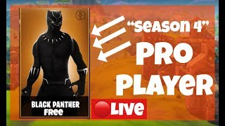 """NEW """"Black Panther Skin + Panther Axe"""" in Fortnite! - New Skin Update Season 4 - FBR"""