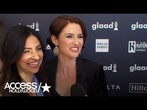 'Supergirl': Floriana Lima & Chyler Leigh Talk #Sanvers | Access Hollywood