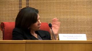 Entretien avec Nathalie Goulet après les auditions de la commission lutte djihad