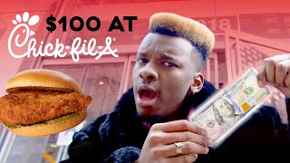 Spending $100 At Chick-fil-A 😱   Delish