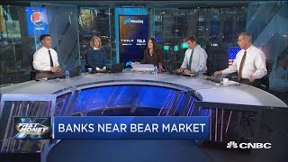 Banks are inching toward a bear market and it could be about to get a lot worse