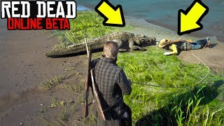 FEEDING GRIEFERS TO GATORS in RED DEAD ONLINE! RDR2 Online Funny Moments