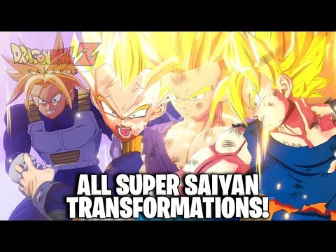 Dragon Ball Z: Kakarot - All Super Saiyan Transformations (DBZ Kakarot All SSJ Transformations)
