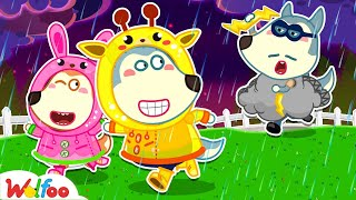 🔴L VE Wolfoo Play Safe In The Rain With Dad - Kids Safety Tips Wolfoo Family Kids Cartoon