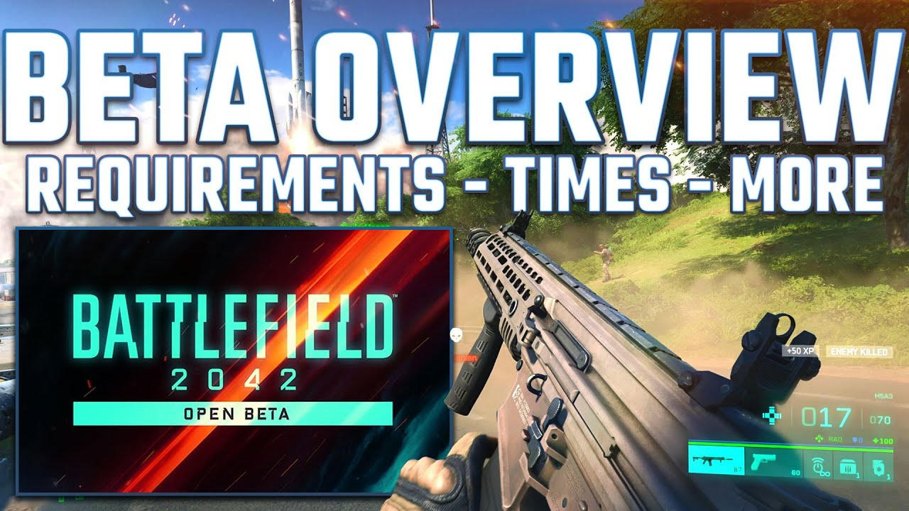 Battlefield 2042 beta release date, start times, download size and ...