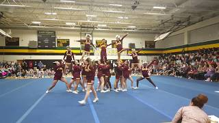 NFCS Middle School Cheer Team At The Viking Challenge 2018
