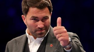 BREAKING NEWS: EDDIE HEARN SAY'S, IF WILDER KNOCKS OUT TYSON FURY, IT WOULD BE A HORRIBLE FIGHT  !