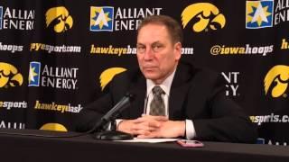 "Tom Izzo says Michigan State got ""punked"" in loss at Iowa"
