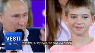 Putin Spoke with Children About the Most Important Things