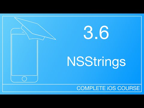How To Use Strings In Objective-C | 3.6 - NSStrings | How To Develop IOS Apps Course