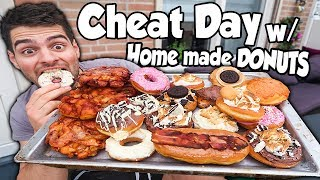 BIG CHEAT DAY w/ HOME MADE DONUTS [9000CALORIES] | MANvsFOOD