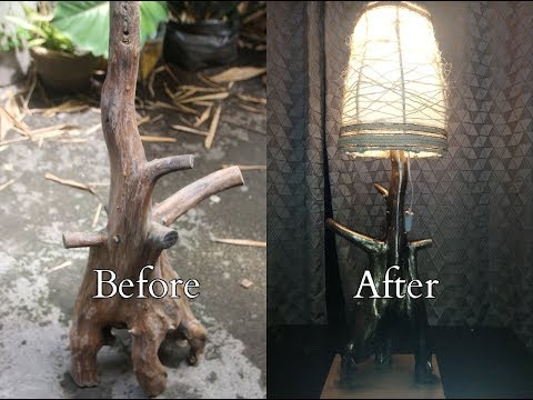 Make Luxurious Look Lamp Shade Made From Very Old Driftwood | Amazing DIY Lamp