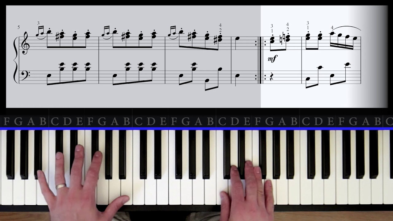 Turkish March Piano Tutorial (Part 2)