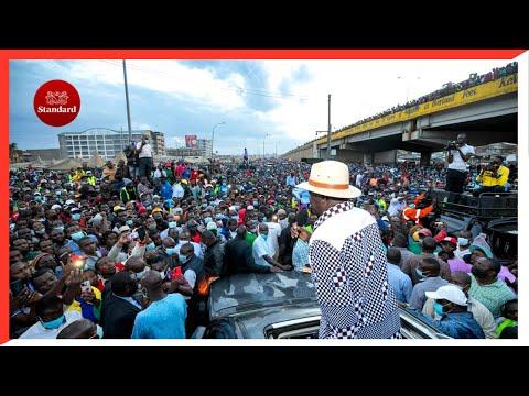 Raila Odinga storms Uhuru's Mt. Kenya backyard, promises agricultural reforms if elected