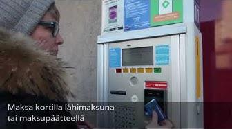 HSL:n kertalippuja parkkiautomaatista   HSL Helsingin seudun liikenne