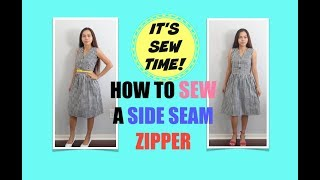 HOW TO SEW A SIDE SEAM ZIPPER ON A DRESS