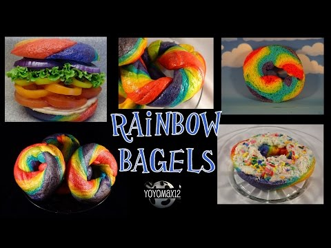 How to make Rainbow bagels - with yoyomax12
