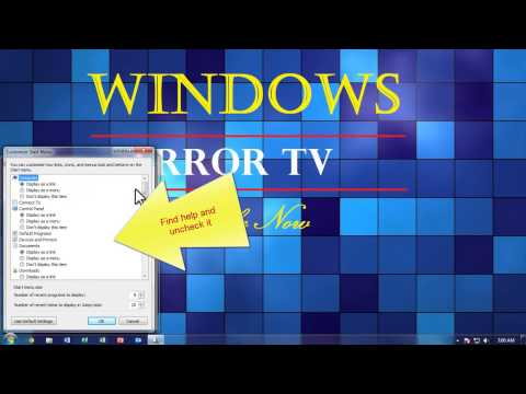 """How To Remove """"Help and support"""" From The Start Menu In Windows 7"""
