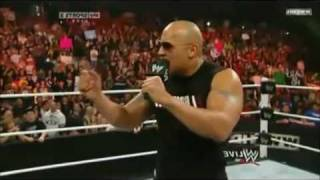 The Rock returns to WWE Raw - 2-14-2011 (Part 2)