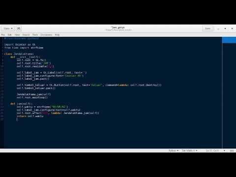 [Python 3] Membuat Jam Sederhana (GUI)
