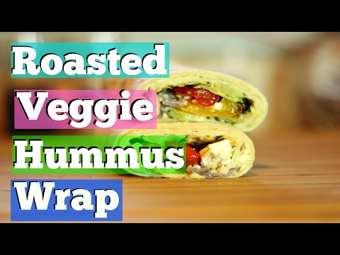 The BEST Hummus Wrap of Your Life!! / Roasted Veggie Hummus Wrap / TrianaElle