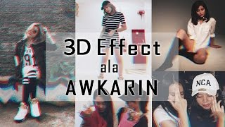 Cara Edit Foto 3D Dubstep ala Awkarin di Picsart Android dan iOS