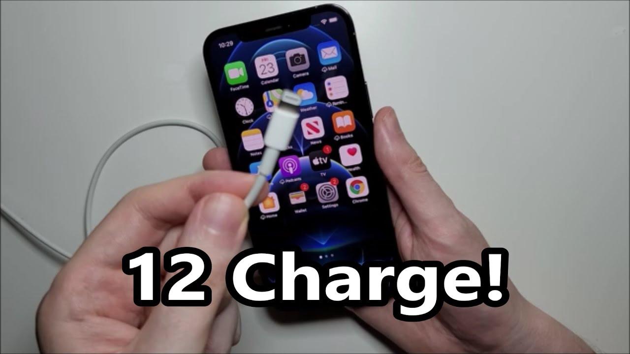 Cách sạc pin iPhone 12 mới mua